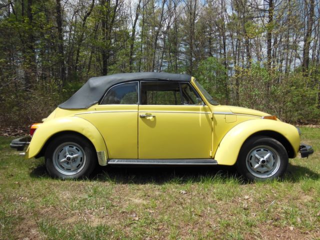 1979 classic vw super beetle convertible yellow for sale photos technical specifications. Black Bedroom Furniture Sets. Home Design Ideas