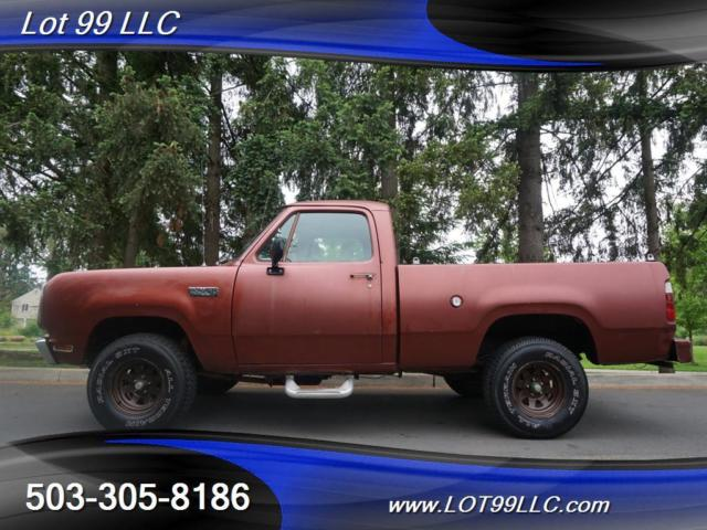 1979 Dodge Power Wagon Short Bed 4X4