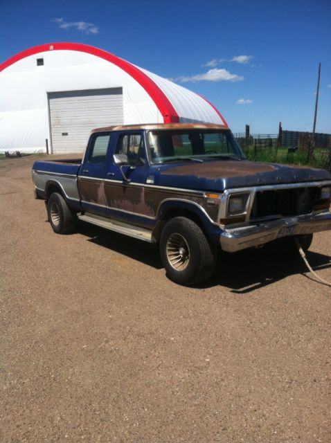 1979 f250 crew cab short box 4x4 partial restoration for ...