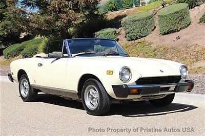 1979 Fiat Spider 2000 No Rust, 5-speed, Cloth Top