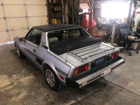 1979 Blue Fiat X-1/9 Convertible with White interior