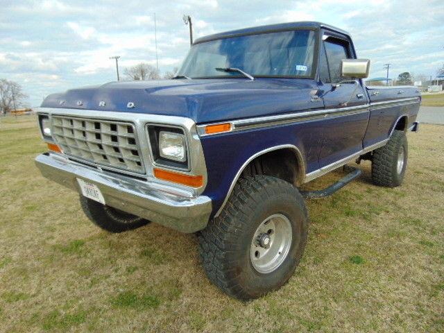 1979 Ford F 150 Custom 351 Automatic Bigfoot Blue Highboy F Series