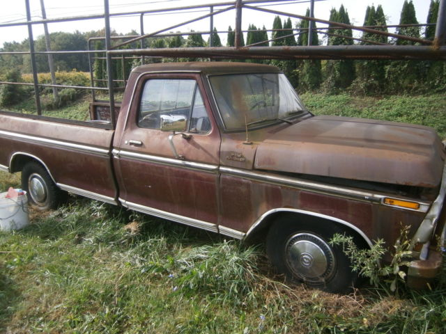 Old Ford Truck Parts : Ford f pickup truck with haulers rack sold as is