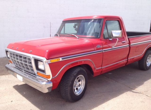 1979 ford f 150 ranger lariat long bed red for sale photos technical specifications description. Black Bedroom Furniture Sets. Home Design Ideas