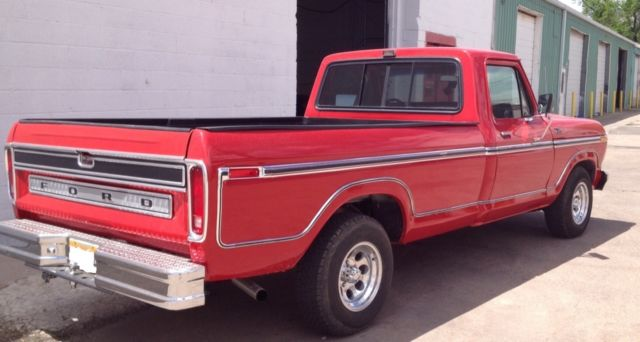 1979 Ford F 150 Ranger Lariat Long Bed Red For Sale
