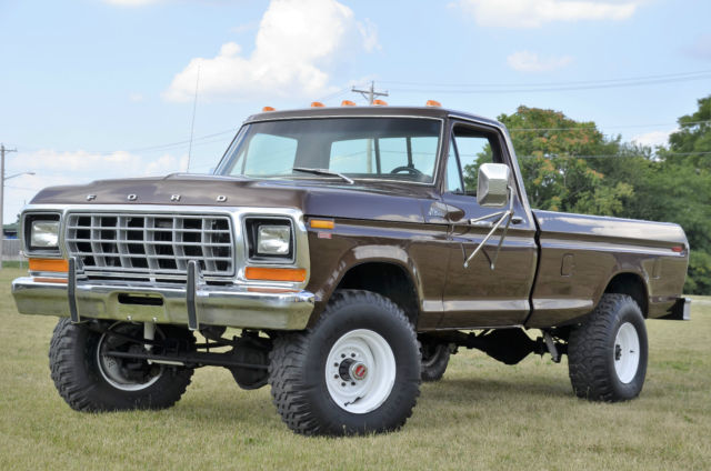 1979 ford f250 4x4 6cyl 4spd dana 60 front and rear axles ranger very nice truck for sale. Black Bedroom Furniture Sets. Home Design Ideas