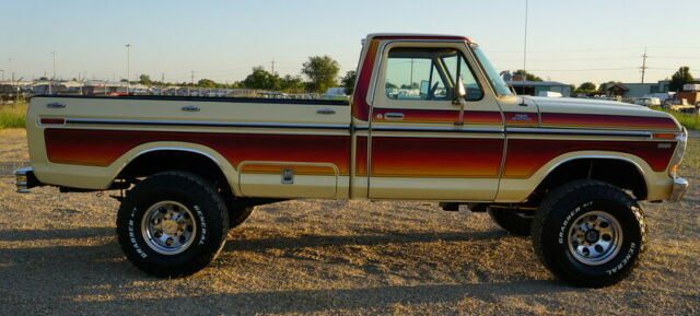 1979 70's Multi Color, Sand Ford F-250 Standard Cab Pickup with Brown interior