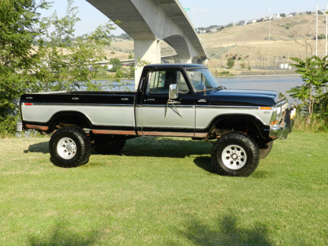 1979 Ford F250 4x4 Ranger xlt lifted black and silver best ...