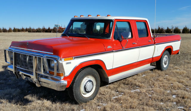 1979 ford f250 crew cab clean original crewcab barn find harley hauler for sale photos. Black Bedroom Furniture Sets. Home Design Ideas