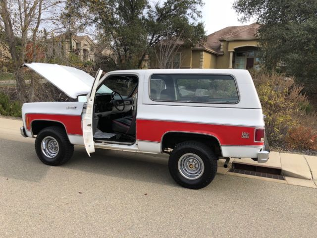1979 White GMC Jimmy GMC SIERRA JIMMY K5 C10 K10 4X4 CHEVY SUV with Black interior