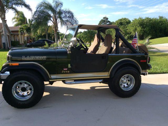 1979 jeep cj7 laredo 304 v8 4x4 automatic transmission metallic green for sale photos. Black Bedroom Furniture Sets. Home Design Ideas