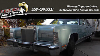 1979 Lincoln Continental Blue Original Sedan Cruiser Town Car 400