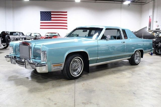 1979 Lincoln Town Car 75301 Miles Light Blue Coupe 400ci V8 3 Speed