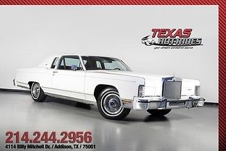 1979 Lincoln Continental Town Coupe 14k Miles 1-Owner Survivor!