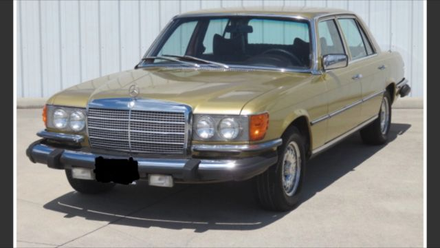 1979 mercedes benz 450sel 100 727 miles gold v8 automatic for Gold mercedes benz price
