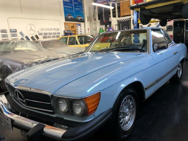 1979 Blue Mercedes-Benz SL-Class Convertible with Blue interior