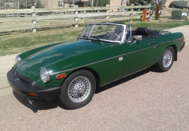 1979 MG B Roadster 4 Speed W Overdrive Convertible