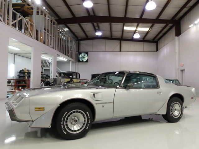 1979 Special Anniversary Silver and Charcoal Pontiac Trans Am Coupe with Silver interior