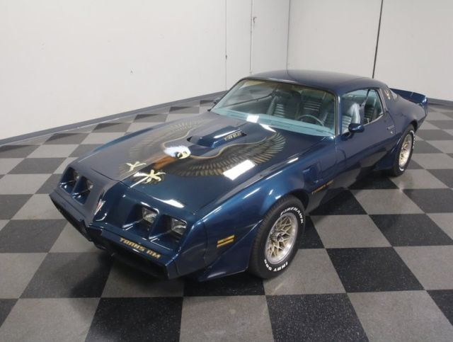 1979 Blue Pontiac Firebird Trans Am Coupe with Blue interior
