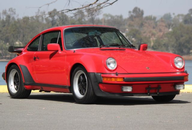 1979 Red Porsche 930 Turbo Coupe with Black interior