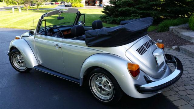 1979 Silver Vw Beetle Convertible