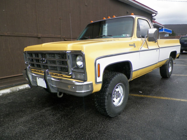 1979 silverado k10 4 wheel drive pickup 2 tone paint. Black Bedroom Furniture Sets. Home Design Ideas