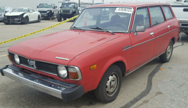 1979 Subaru DL WAGON 4 WHEEL DRIVE WAGON 4 WHEEL DRIVE