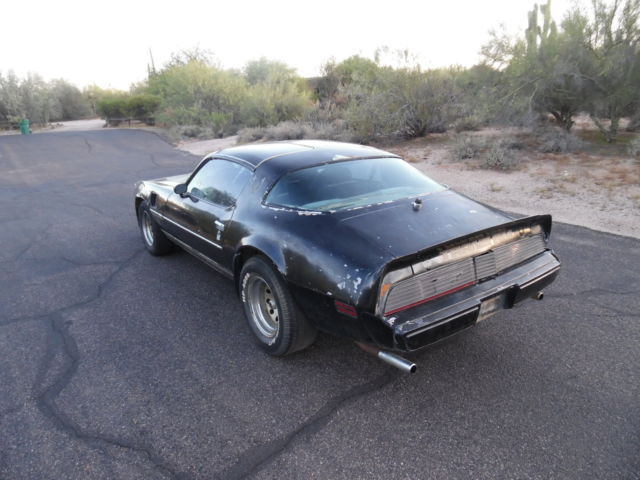 1979 trans am-smokey and the bandit se addition-black on black- t-tops