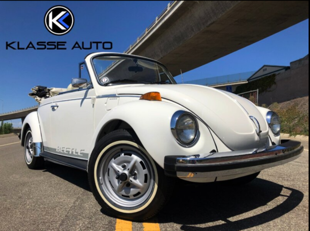 1979 Volkswagen Beetle-Classic Convertible Only 64k Miles White on White NR WOW!