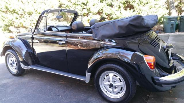 1979 Vw Beetle Convertible Rare Epilog Triple Black