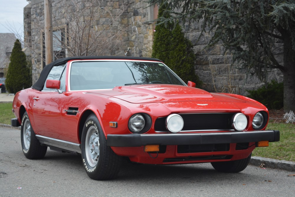 1980 Aston Martin V8 0 Red Convertible Automatic For Sale Photos
