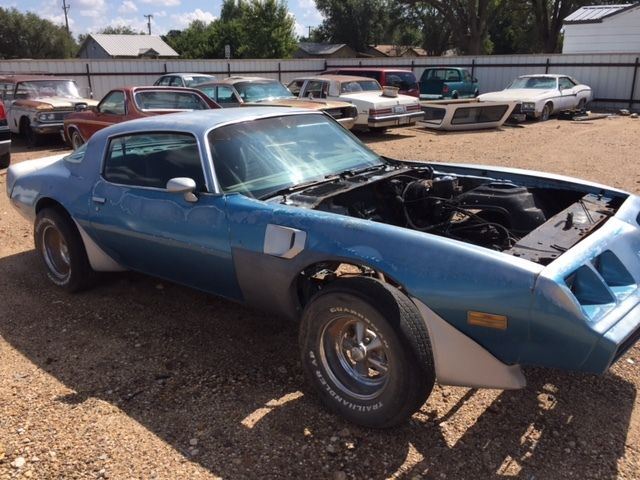 1980 Blue Pontiac Trans Am WS6, disc brake, posi project car  for