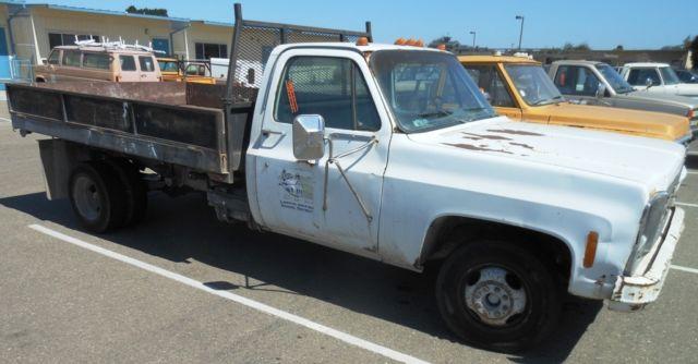 1980 Chevy Custom DeLuxe C30 Flat Bed Dump Truck  RTAuctions