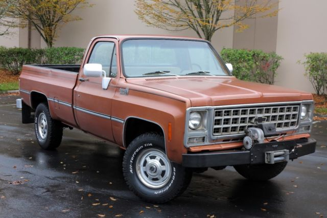 1980 Chevy K20 Custom Deluxe 4x4 Pickup Clean And Ready For The