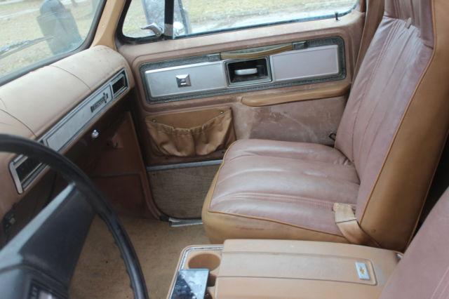 1980 Chevy Silverado Camper Special 454 Factory Bucket Seats