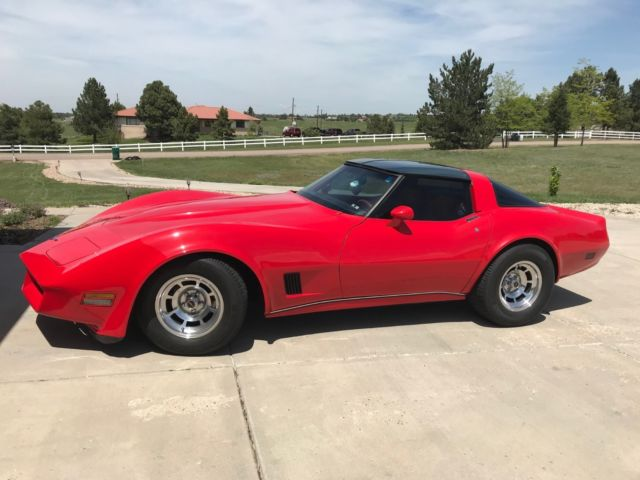 1980 Red Chevrolet Corvette Coupe with Red interior