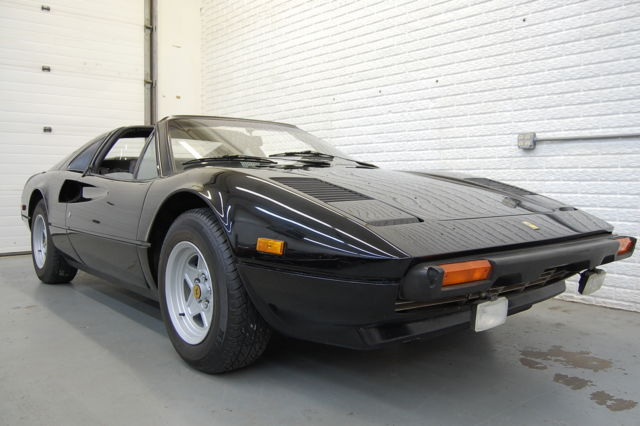 1980 Ferrari 308 Black w. Red Interior Tubi Exhaust Needs TLC