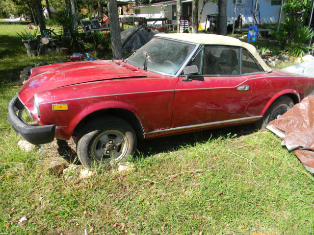 1980 fiat 124 spider parts car for sale: photos, technical