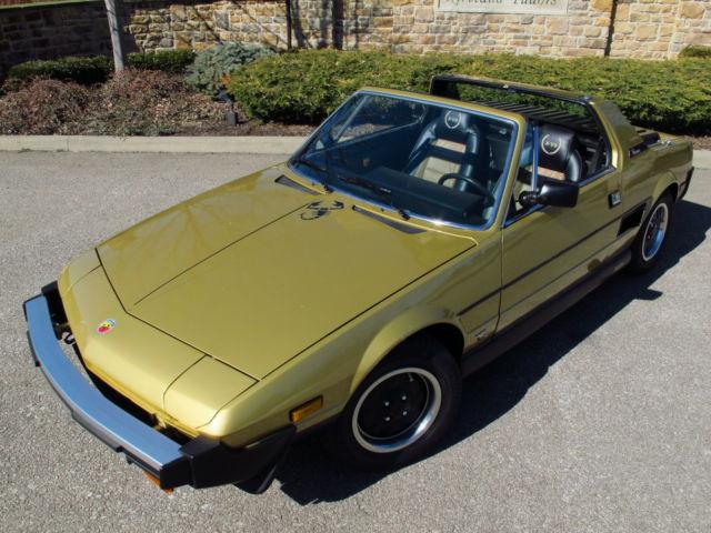 1980 Fiat X1/9 Bertone Targa Roadster, super clean body ...