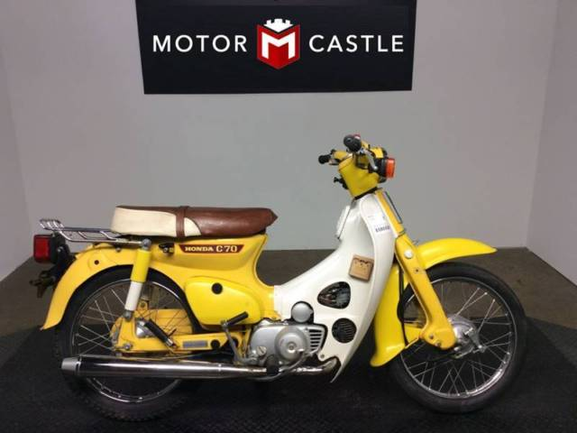 1980 honda c70 passport 3078 miles yellow motorcycles scooters manual for sale photos. Black Bedroom Furniture Sets. Home Design Ideas