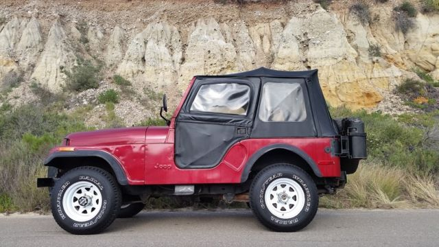 1980 jeep cj5 4x4 77 000 original miles 100 rust free california jeep 5 900 for sale photos. Black Bedroom Furniture Sets. Home Design Ideas