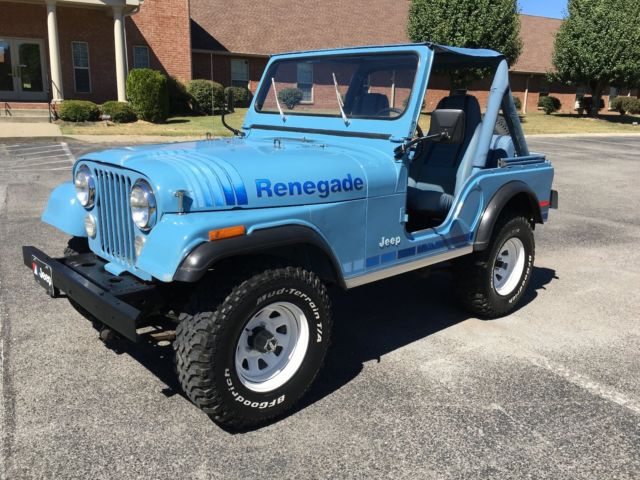 1980 jeep cj5 renegade teal blue for sale photos. Black Bedroom Furniture Sets. Home Design Ideas