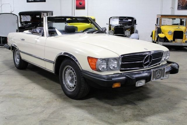 1980 Tan Mercedes-Benz SL-Class Convertible with Brown interior