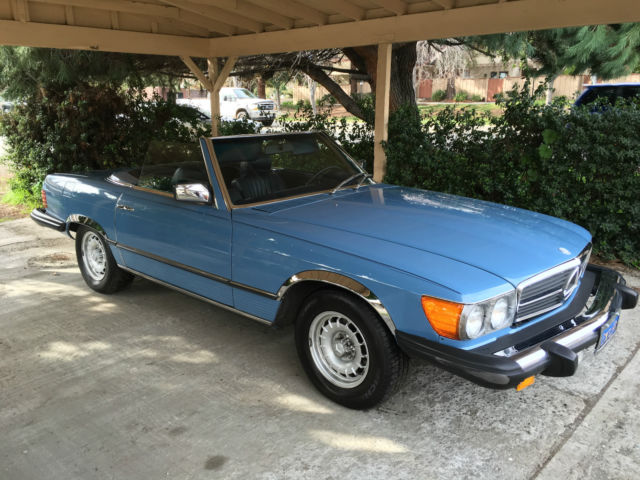 1980 Mercedes-Benz SL-Class No Reserve California Baby Blue 450SL Roadster