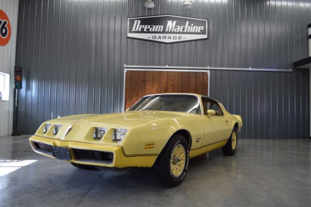 1980 Pontiac Firebird yellow bird