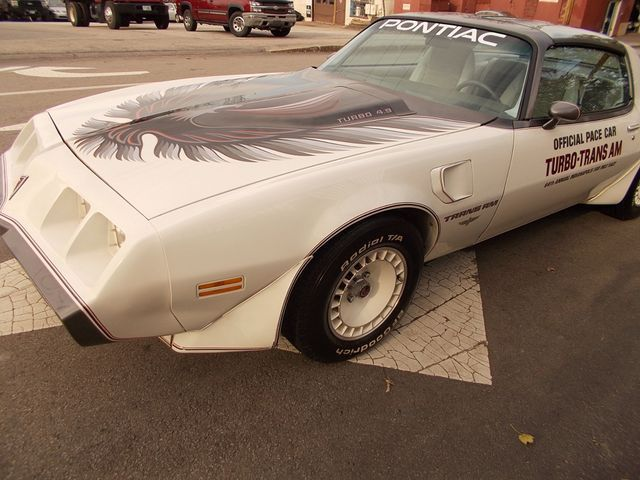 1980 White Pontiac Trans Am Coupe with Silver interior