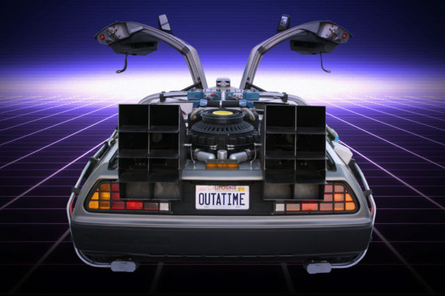 1981 back to the future time machine car for sale or rental for sale photos technical. Black Bedroom Furniture Sets. Home Design Ideas