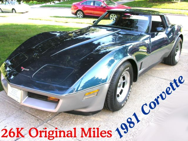 1981 Chevrolet Corvette 26K Original Miles