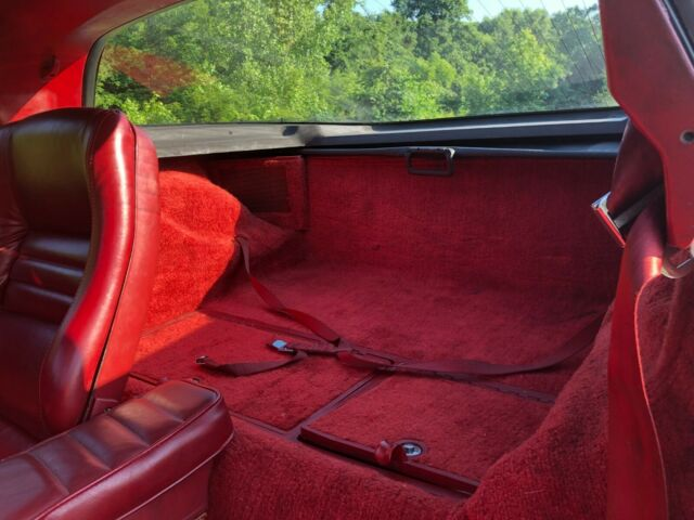 1981 Silver Chevrolet Corvette Coupe with Red interior