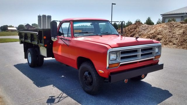 1981 Dodge d350 flatbed dually truck for sale: photos